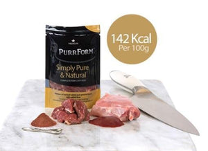 Purrform Cat Food Minced venison & farmed rabbit, ground bone with liver (Adult Cat) 6 x 70G Minced venison & farmed rabbit, ground bone with liver (Adult Cat) 6 x 70G