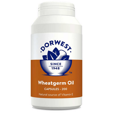 Dorwest Supplements Wheatgerm Oil Capsules For Dogs And Cats 200 Capsules 5 060183510623 WGO200