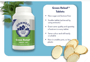 Dorwest Supplements Green Releaf Tablets For Dogs And Cats Tablets 100 5 060183510128 GR100
