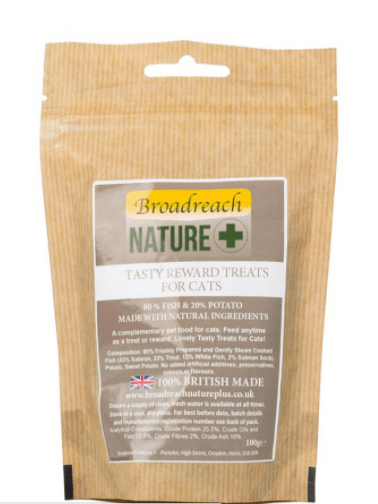 Broadreach Cat Food 80% Fish and Potato Natural Training and Reward Treats for Cats and Kittens 100g 80% Fish and Potato Natural Training and Reward Treats for Cats and Kittens 100g