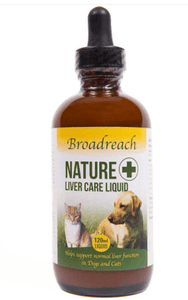 Broadreach Supplements Liver Care Advanced Liquid for Dogs, Cats, Puppies and Kittens – 120ml Liquid Liver Care - 120ml glass bottle with dropper