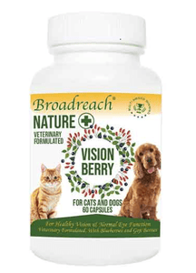Broadreach Supplements Vision Berry for Dogs and Cats, Puppies and Kittens – 60 capsules Vision Berry - 60 Capsules