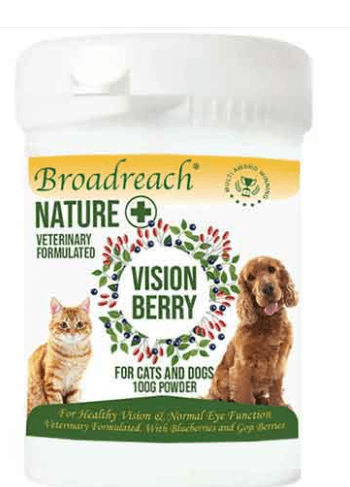 Broadreach Supplements Vision Berry for Dogs and Cats, Puppies and Kittens – 100g powder Vision Berry Powder - 100g loose powder