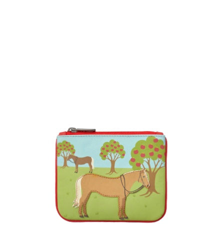 Day At The Stables Zip Top Purse