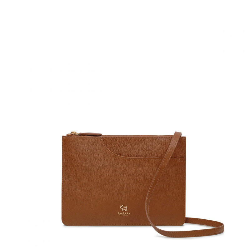 Pockets Cross Body Tan