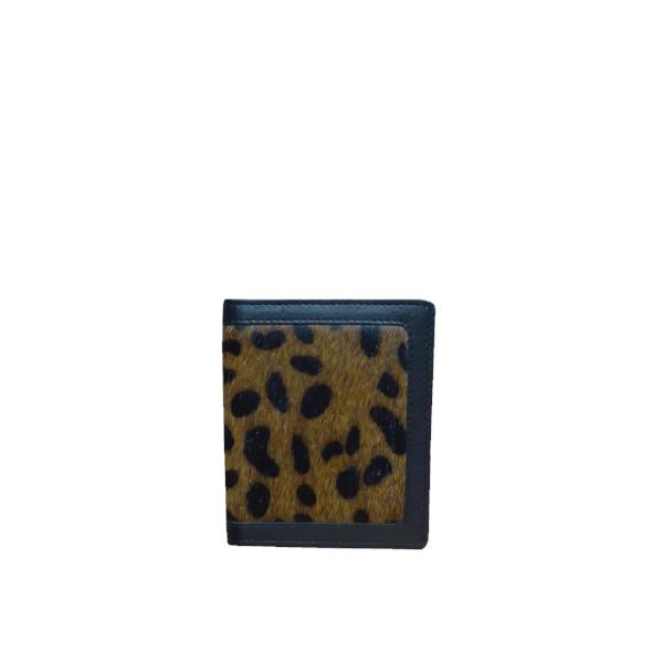 Faux Fur Print Card Holder