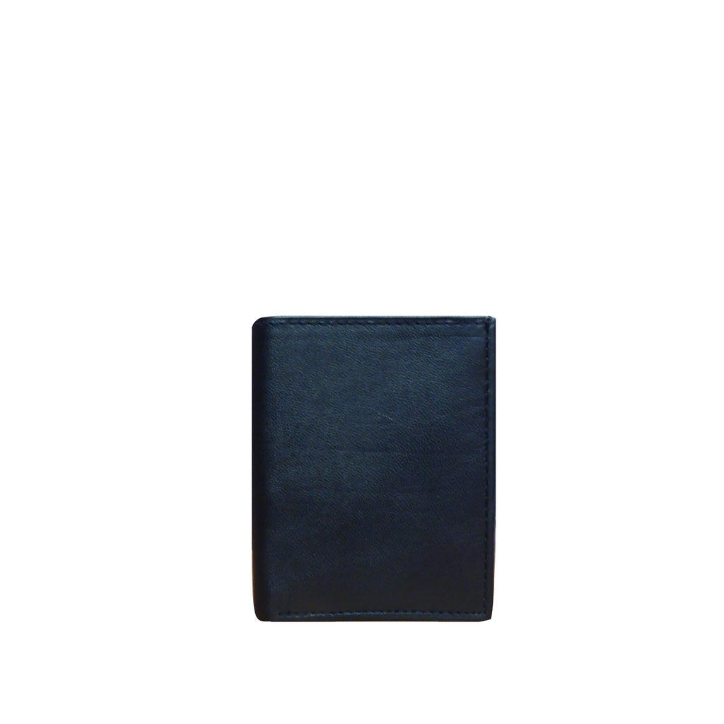 Black Leather Trifold Wallet