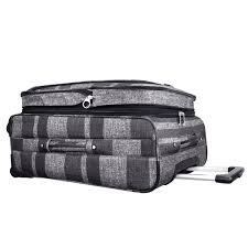Grey Stripe Luggage