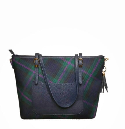 Tartan Tote Shoulder Bag