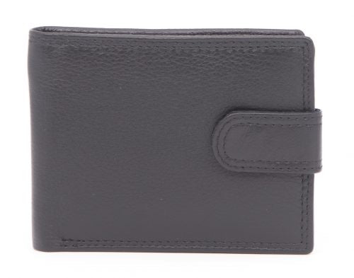 RFID Black Leather Wallet 6-18