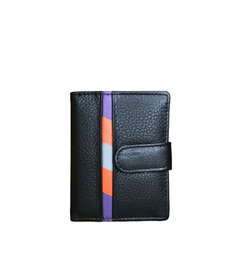 RFID Leather Card Holder With Tab
