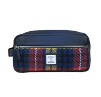 Wash Bag with Harris Tweed