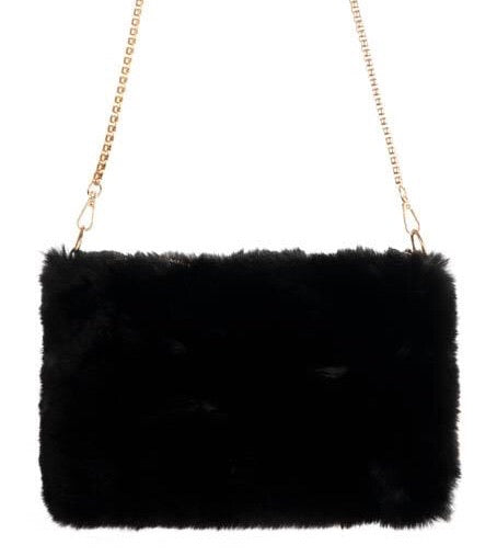 Fur Bag with Chain Strap