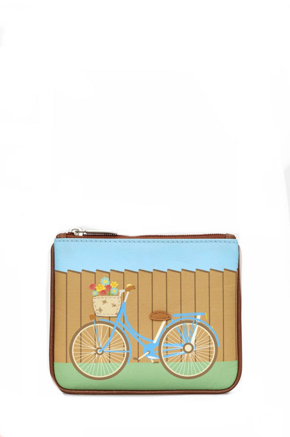 Bicycle Zip Top Purse