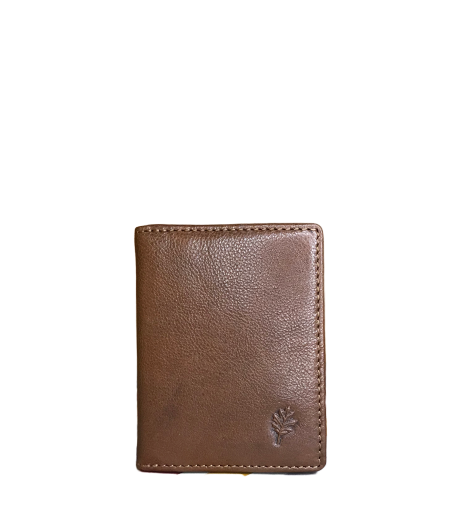 Oak Leather Credit Card Holder