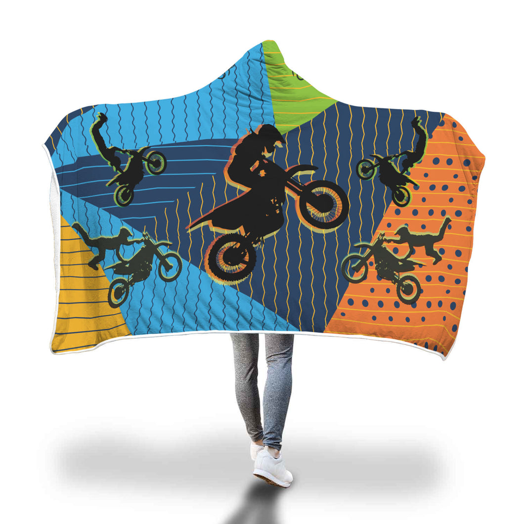 Motocross Hooded Blanket