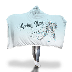 "Blue ""Hockey Mom"" Hooded Blanket"
