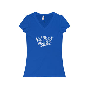 """Hot Mess Moms Club"" Slim Fit Jersey Tee"
