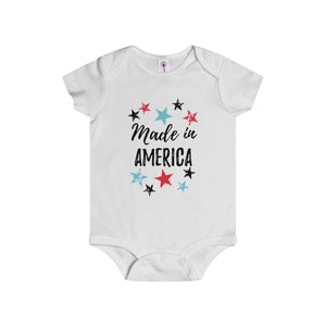 """Made In America"" Infant Rip Snap Tee"