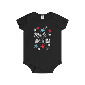 """Made In America"" Dark Infant Rip Snap Tee"