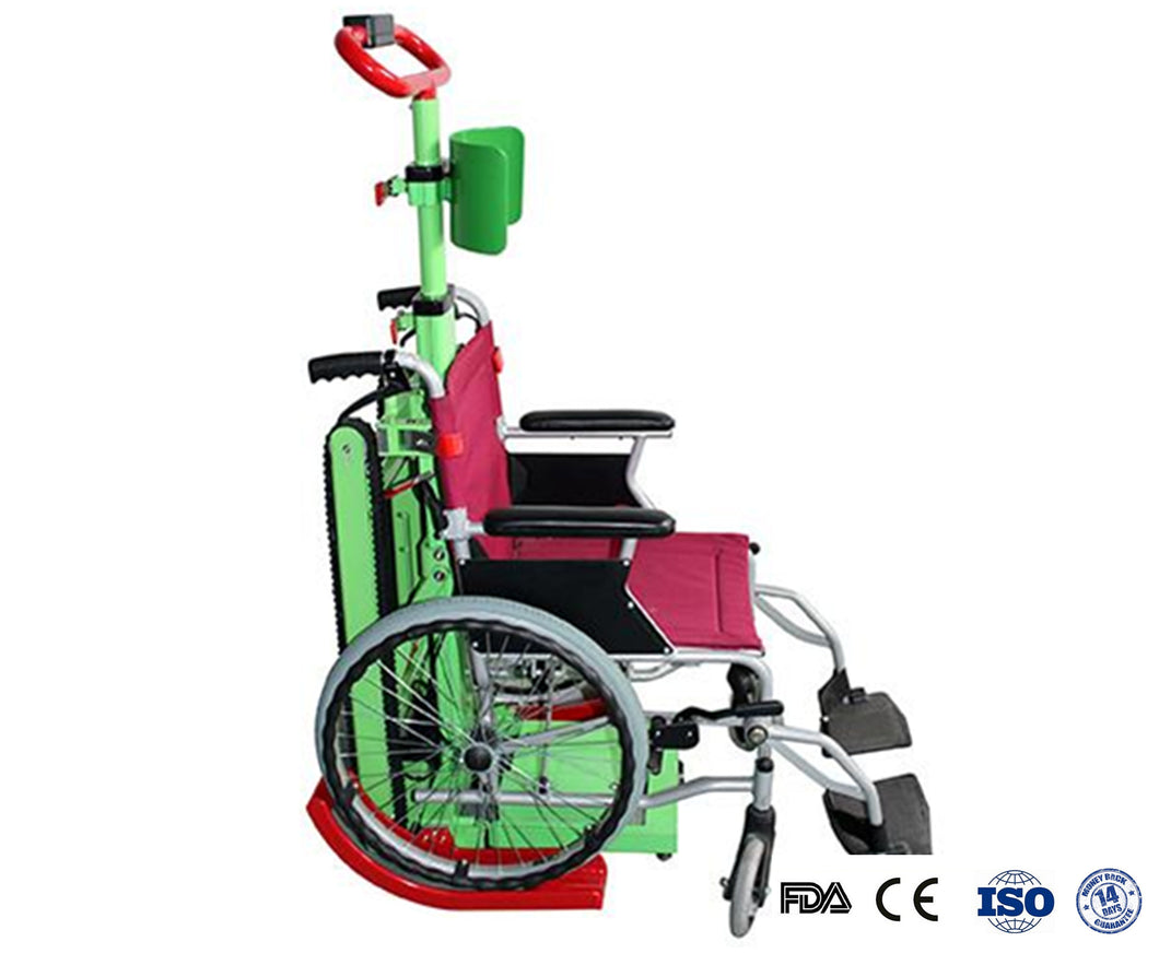 Battery Powered Stair-Climbing Wheelchair Holder