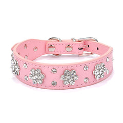 Bling Leather Collar