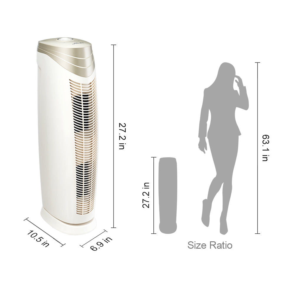 HunterAirPurifier Hunter HEPA+ Air Purifier with ViRo-Silver Technology HT1701  - Champagne & White