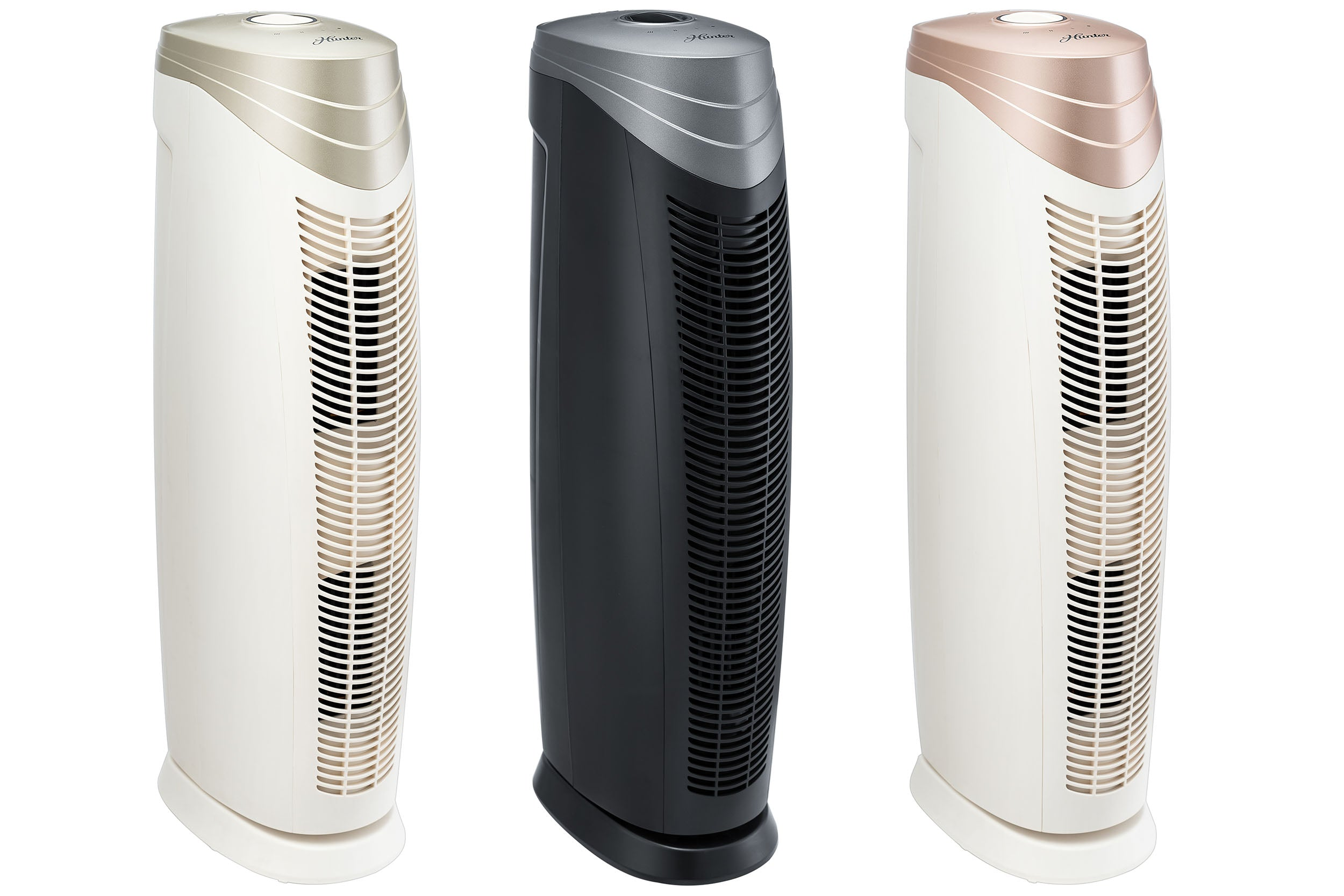 HunterAirPurifier Hunter HEPA+ Air Purifier with ViRo-Silver Technology HT1701 – Rose Gold & White