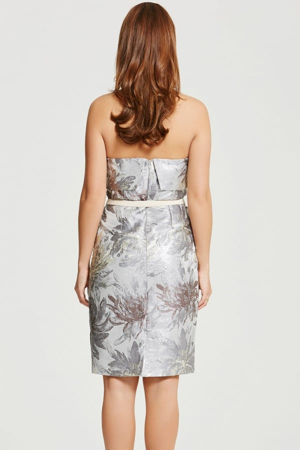 Chloe Lewis Collection Jacquard Bandeau Midi Pencil Dress - Glitzy Angel