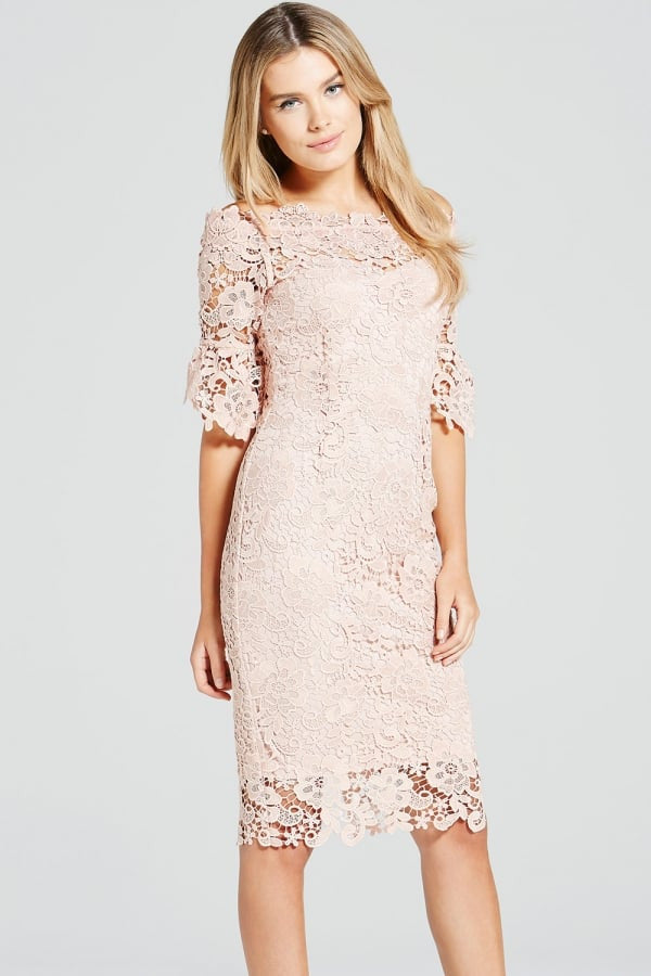 172cf805006d Paper Dolls Blush Crochet Lace Bardot Dress