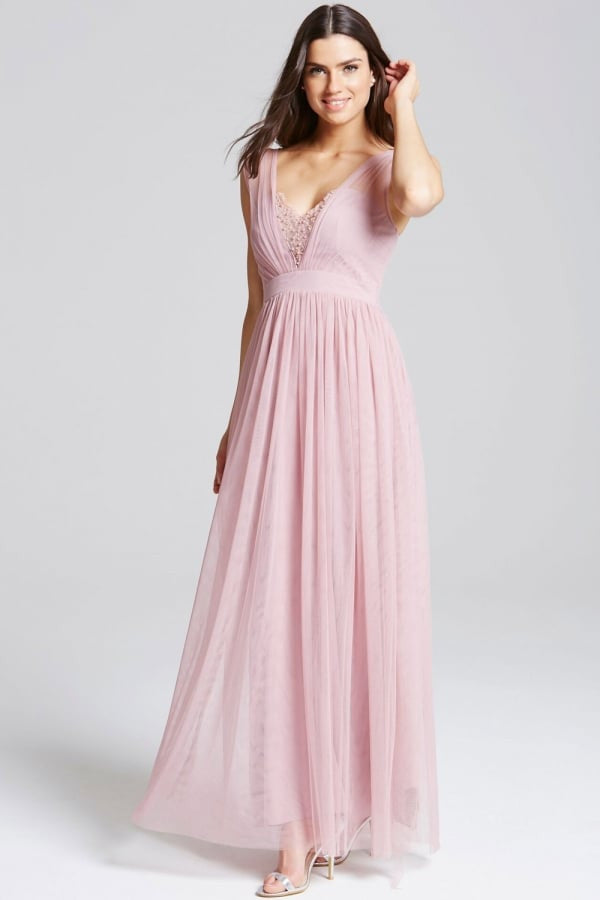 Little Mistress Rose Jewel Bust Maxi Dress - Glitzy Angel