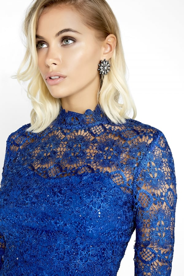 Paper Dolls Cobalt Lace Dress
