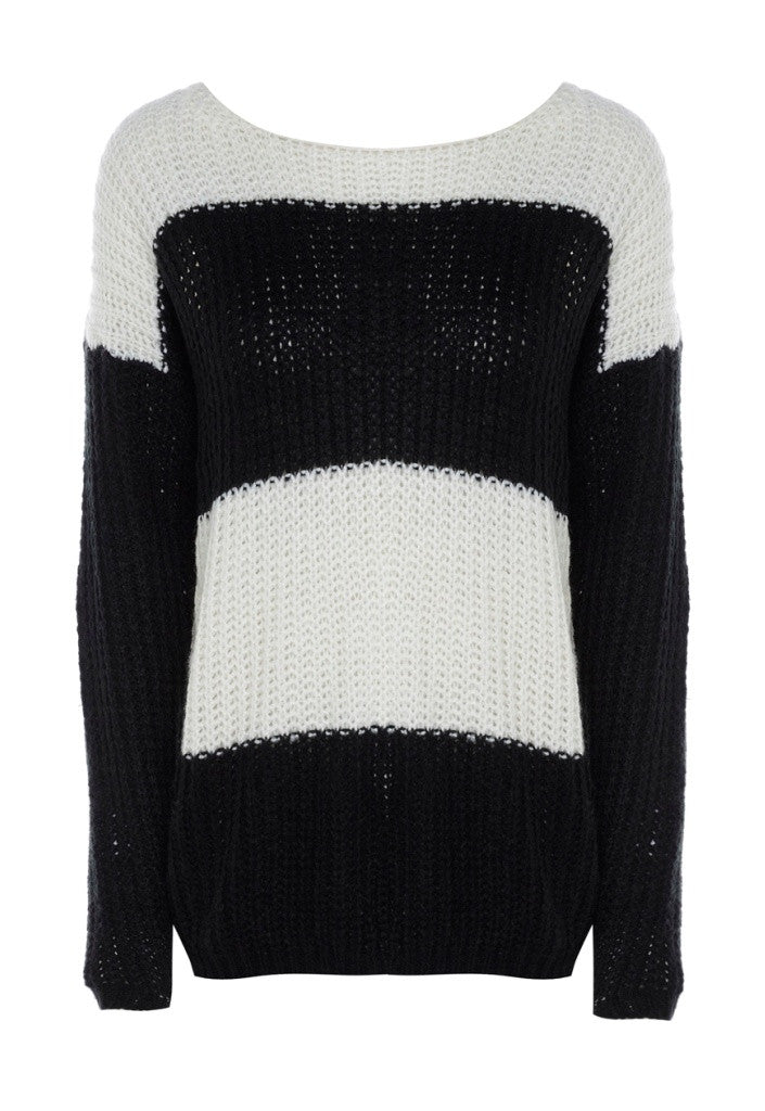 AX Paris Big Stripe Jumper - Glitzy Angel