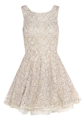 AX Paris Cream & Black Lace Kick Out Dress