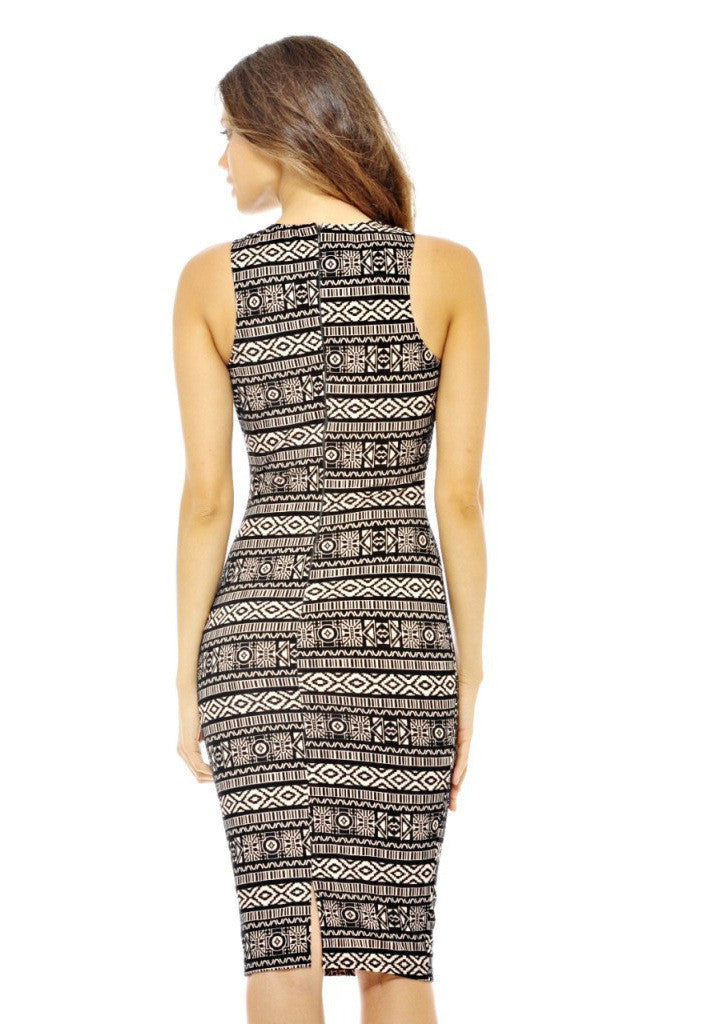 AX Paris Aztec Midi Dress - Party Midi Dresses - Glitzy Angel