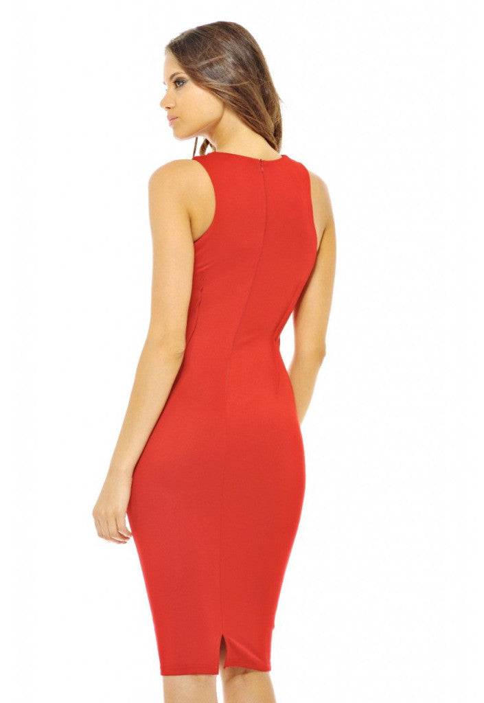 AX Paris Jewel Midi Dress - Red Party Dresses - Glitzy Angel
