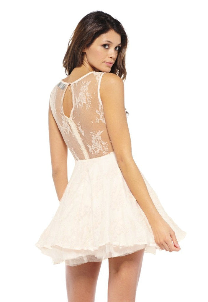 AX Paris Lace Kick Out Skater Dress - Going Out Dresses - Glitzy Angel