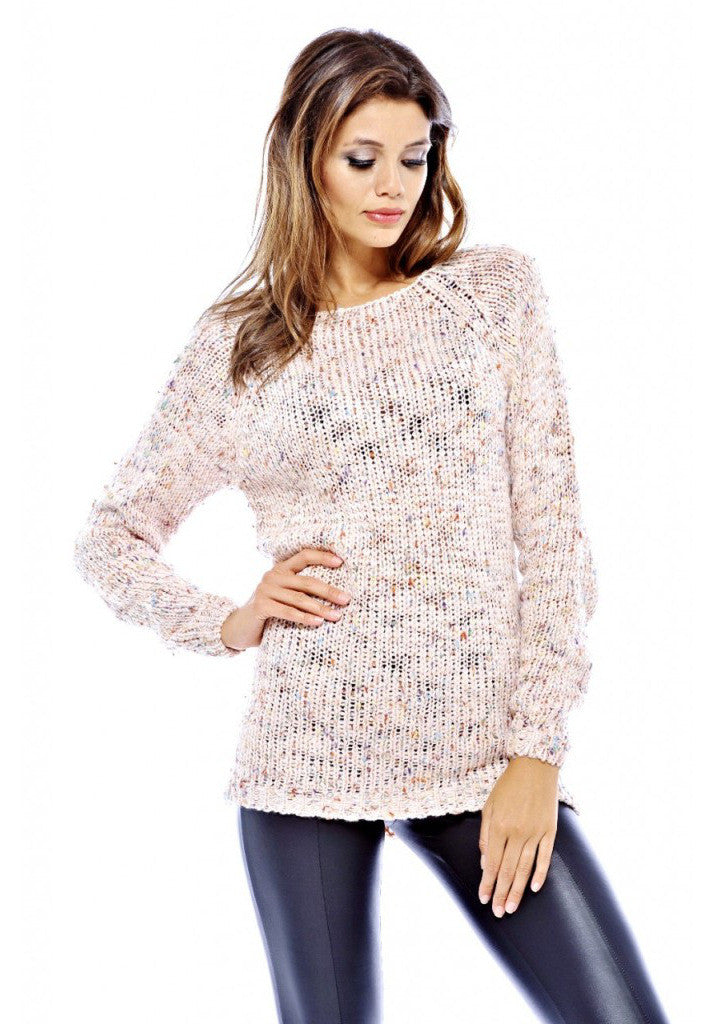 AX Paris Pink Speckle Knit Jumper - Glitzy Angel