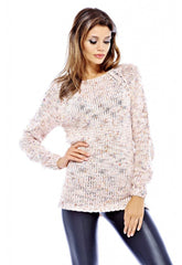 AX Paris Pink Speckle Knit Jumper
