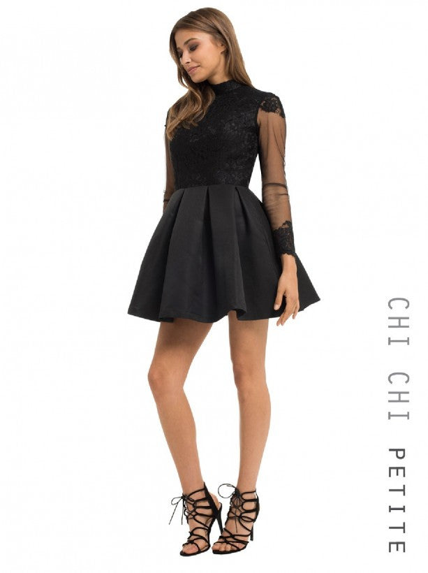 Chi Chi Petite Liana Dress - Glitzy Angel