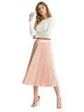 Chi Chi Jazmyn Skirt - Pleated Midi Skirt
