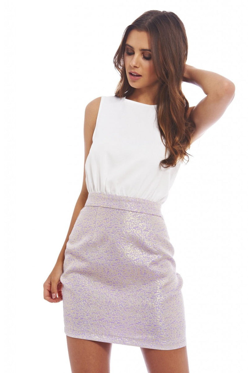 AX Paris Two Tone Dress - Glitzy Angel