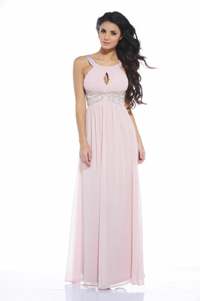 AX Paris Embellished Key Hole Front Maxi - Glitzy Angel