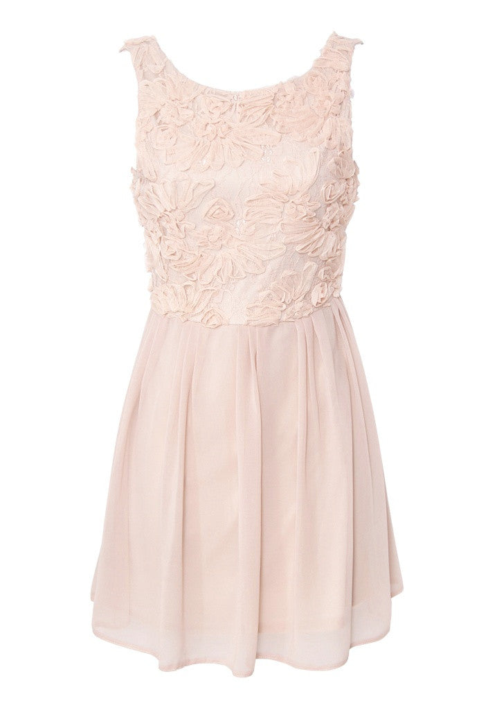 Elise Ryan Cornelli Trim Open Back Dress - Short Dresses - Glitzy Angel