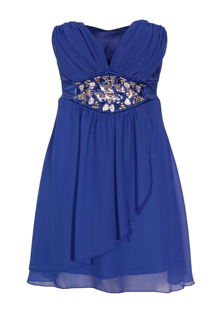 Elise Ryan Jewel Strapless Dress - Wedding Guest Dresses - Glitzy Angel