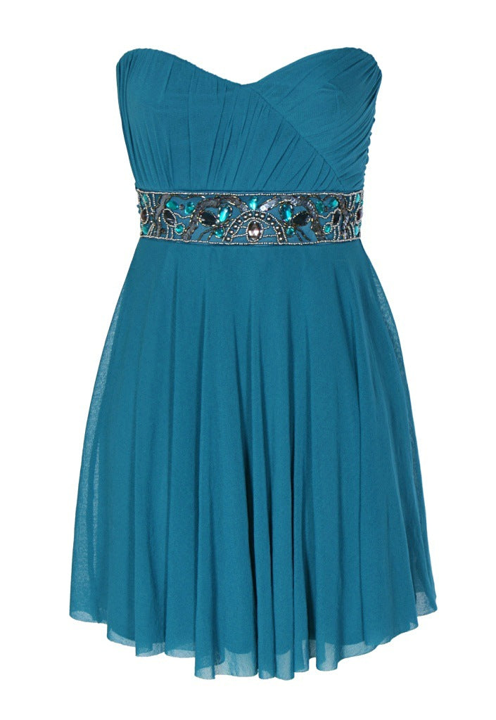 Elise Ryan Jewelled Waist Party Dress - Glitzy Angel