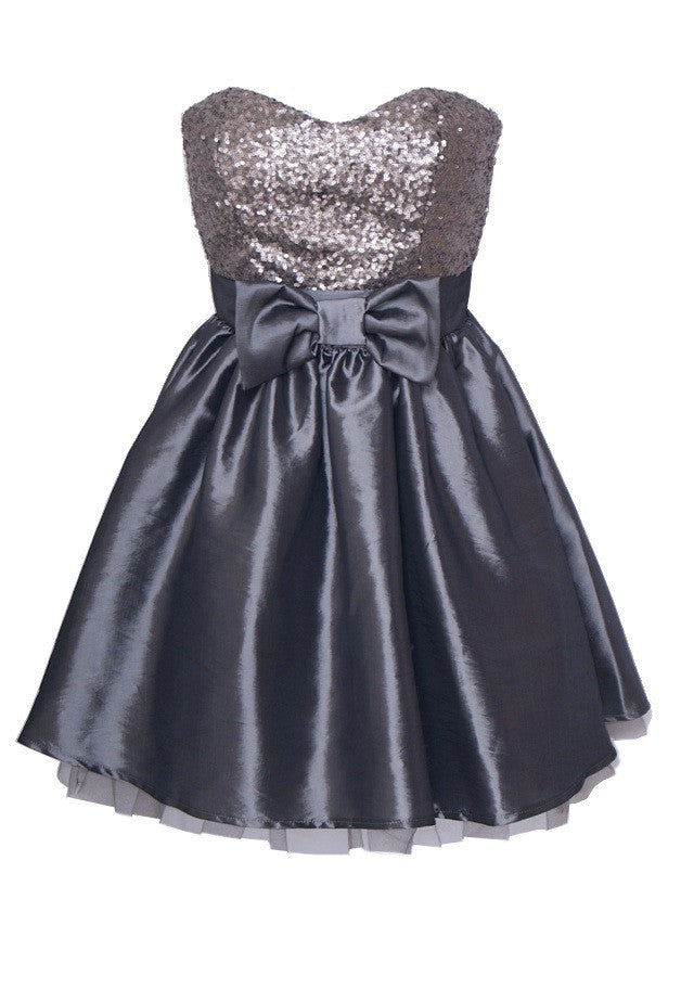 Elise Ryan Bow Prom Dress - Glitzy Angel