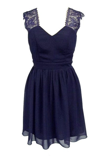 Elise Ryan Navy Dress - Glitzy Angel