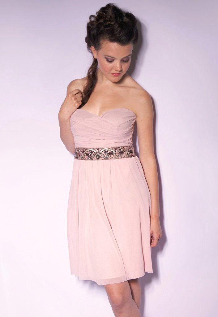 Elise Ryan Pink Wedding Guest Dress - Glitzy Angel