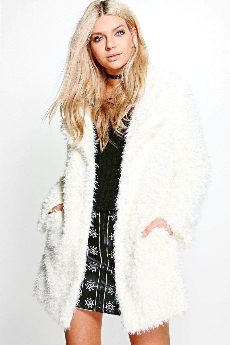 Shaggy Fur Long Coat